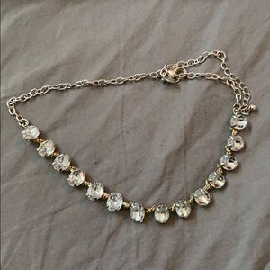 Faux diamond necklace